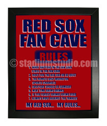 Boston Red Sox Fan Cave_Framed