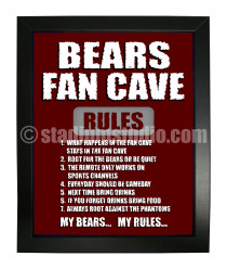 Hershey Bears Fan Cave_Framed