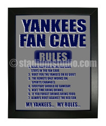 New York Yankees Fan Cave_Framed