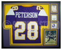 Peterson, Adrian Framed Vikings Jersey