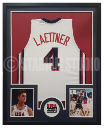 Laettner, Christian Framed USA Jersey
