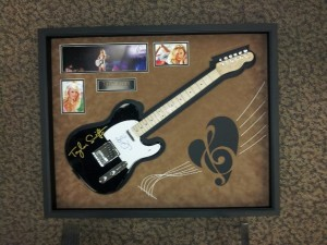 Custom Taylor Swift Guitar Shadowbox