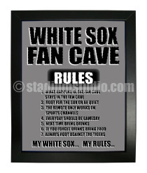 Chicago White Sox Fan Cave_Framed