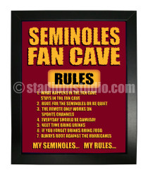 Florida State Seminoles Fan Cave_Framed