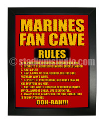 Marines Fan Cave_Framed