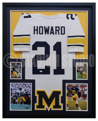 2824ca402 Desmond Howard Autographed Framed Michigan Jersey - The Stadium Studio