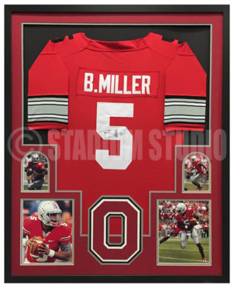 best sneakers c30e3 23bbd Braxton Miller Autographed Framed Ohio State Jersey