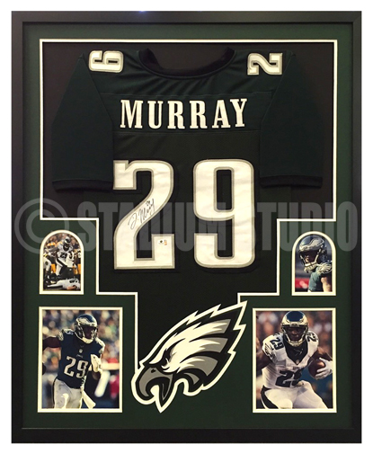 24053a81 DeMarco Murray Autographed Framed Eagles Jersey
