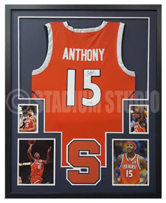 meet 85104 657b9 Carmelo Anthony Autographed Framed Syracuse Jersey