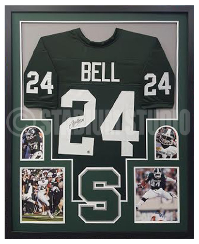 on sale 43bef 321c1 Le'Veon Bell Autographed Framed MSU Jersey