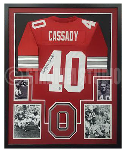 7799fb0fd Howard Cassady Autographed Framed Buckeyes Jersey - The Stadium Studio