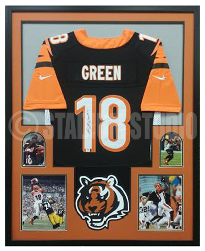 low priced 645dc fb907 AJ Green Autographed Framed Bengals Jersey