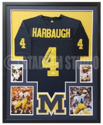 Harbaugh, Jim Framed Jersey