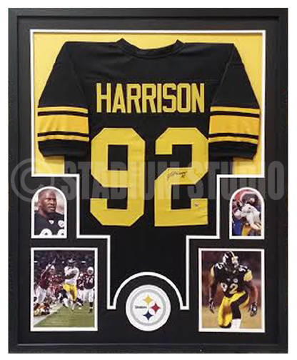 hot sale online 4b260 486ea James Harrison Autographed Framed Steelers Jersey