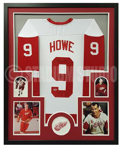 innovative design 30003 d8e1f Gordie Howe Autographed Framed Red Wings Jersey
