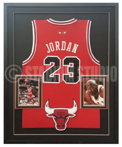 Michael Jordan Autographed Framed Bulls Jersey - The Stadium Studio