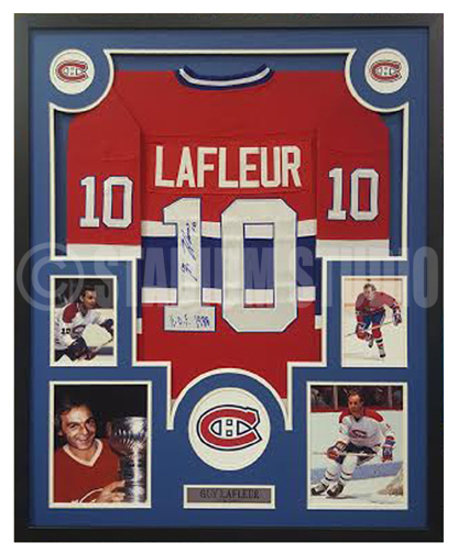 newest 0ddc1 17bc4 Guy Lafleur Autographed Framed Canadiens Jersey