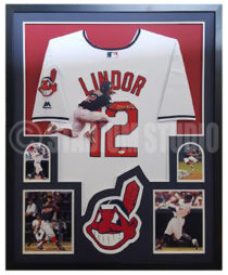 Lindor, Francisco Framed Jersey