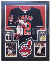 Lindor, Francisco Framed Jersey2