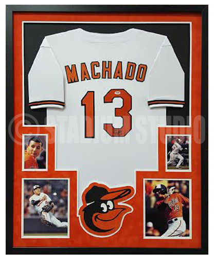Manny Machado Autographed Framed Orioles Jersey - The Stadium Studio