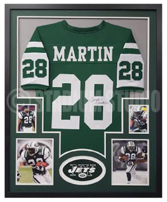 the latest 10df3 ab8ad Curtis Martin Autographed Framed Jets Jersey