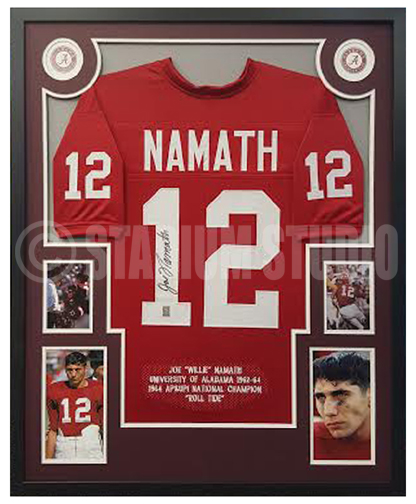 finest selection 55f1f 63dd2 Joe Namath Autographed Framed Alabama Jersey