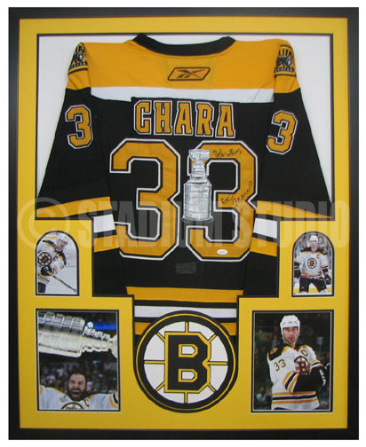 Zdeno Chara Autographed Framed Bruins Jersey - The Stadium Studio 48c1404940a