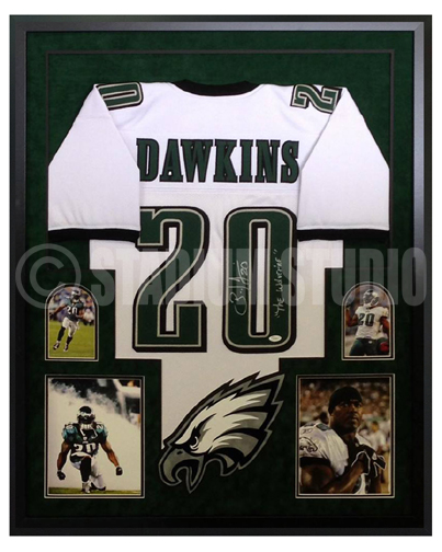 100% authentic 052c1 95a0d Brian Dawkins Autographed Framed Eagles Jersey