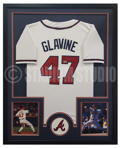 Tom Glavine Autographed Framed Braves Jersey - The Stadium Studio