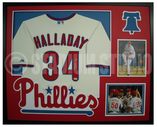 Roy Halladay Autographed Framed Phillies Jersey - The Stadium Studio