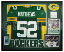 Matthews, Clay Framed Packers Jersey