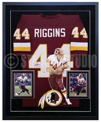 buy popular 4c26a 0b5a0 John Riggins Autographed Framed Redskins Jersey