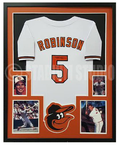 Brooks Robinson Autographed Framed Orioles Jersey - The Stadium Studio