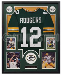 Rodgers, Aaron Framed Jersey2