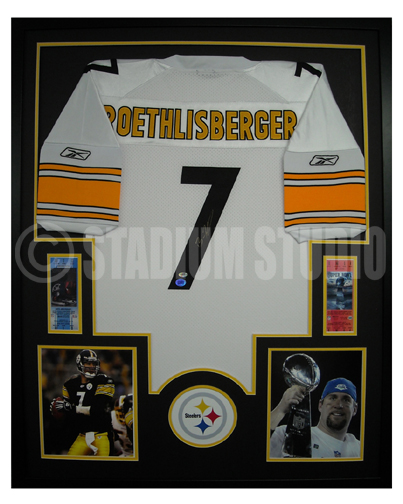 brand new 76fed cc46d Ben Roethlisberger Autographed Framed Steelers Jersey