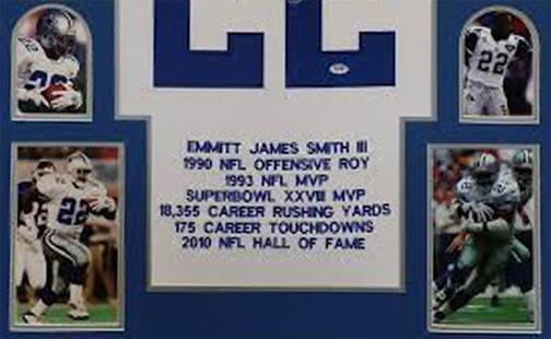 Emmitt Smith Autographed Framed Cowboys Jersey The