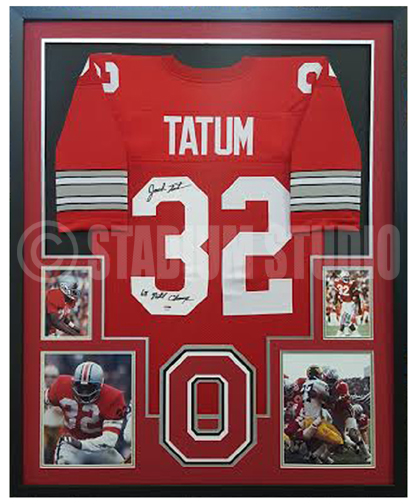 201bb038f Jack Tatum Autographed Framed Ohio State Buckeyes Jersey - The Stadium  Studio
