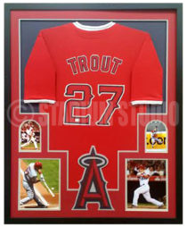 Trout, Mike Framed Jersey