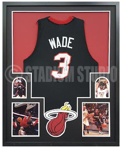 the latest 2d2a1 4cb21 Dwyane Wade Autographed Framed Heat Jersey