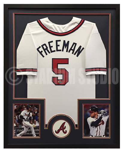 finest selection 258aa 716b9 Freddie Freeman Autographed Framed Braves Jersey