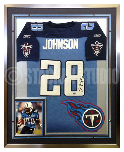 Chris Johnson Autographed Framed Titans