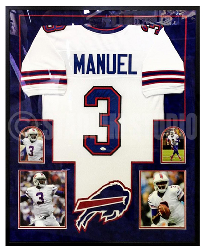 Discount E.J. Manuel Autographed Framed Bills Jersey The Stadium Studio