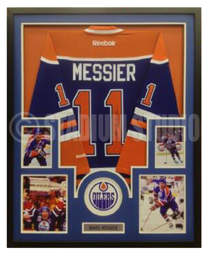 brand new 1a49d 87a9e Mark Messier Autographed Framed Oilers Jersey
