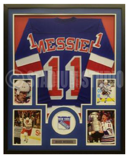 new products 2a4f4 4ab75 Mark Messier Autographed Framed Rangers Jersey