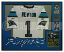 Newton, Cam Framed Panthers Jersey