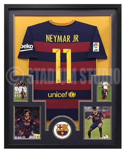 16f7f22fc Neymar Jr. Autographed Framed Barcelona Jersey - The Stadium Studio