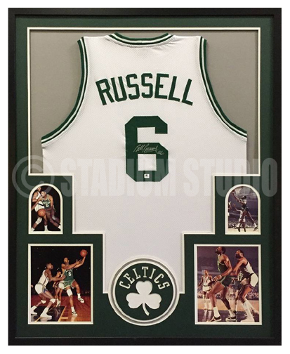Bill Russell Autographed Framed Celtics Jersey - The Stadium Studio