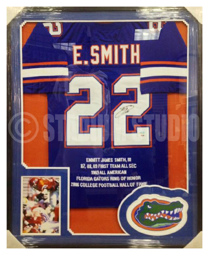 quality design 004a1 b8899 Emmitt Smith Autographed Framed Florida Gators Jersey