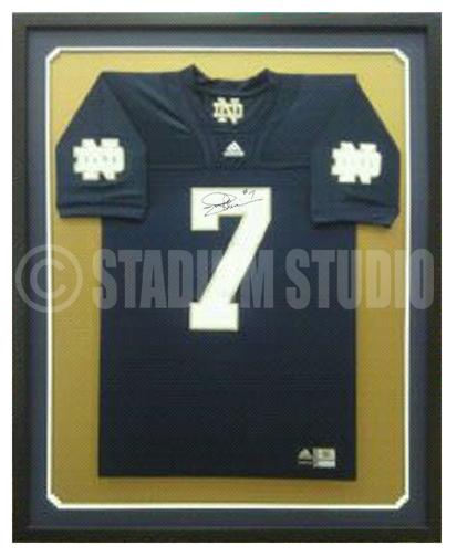 4cd6a710d Joe Theismann Autographed Framed Notre Dame Fighting Irish Jersey - The Stadium  Studio